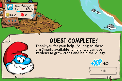 Smurf - Quest complete