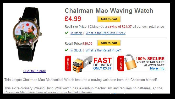 RedSave Watch Advert