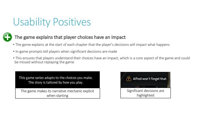Usability Positives