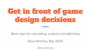 Get in front of game design decisions