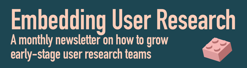 Embedding User Research Teams Banner