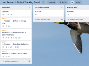 User Research Project Tracker